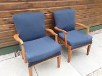 2 Parker Knoll Chairs, suitable as a project to re-upholster. Buyer to collect.