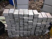 Grey paving blocks