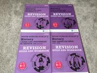 Edexcel Pearson GCSE 9-1 revision guides and workbooks - history