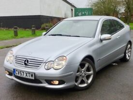 Mercedes Benz C Class Coupe C200 CDI Sport Edition, AUTOMATIC 2 YEARS WARRANTY not audi bmw vauxhall