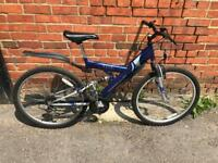 """Apollo Excel Full Suspension Mountain Bike. Good Condition. 18"""" Frame, Free Lock, Lights, Delivery."""