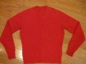 GORGEOUS RED ANGORA BLEND LADY'S SWEATER