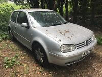Vw golf silver 1.9 diesel tdi manual breaking for parts / spares