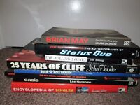 Collection of 8 Music Rock n Roll Stones Queen Quo Cliff Encyclopedia Biography Lot