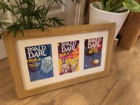 Curated & Framed: Roald Dahl book covers (postcards) in frame