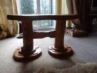 UNUSUAL CARVED WOOD COFFEE TABLE