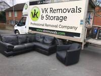 Black leather corner group sofa and armchair only a year old £355
