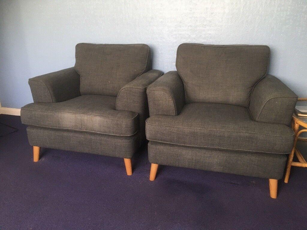 Superb Ms Small Sofa 2 Armchairs Copenhagen Range Charcoal Fabric In Wandsworth London Gumtree Creativecarmelina Interior Chair Design Creativecarmelinacom