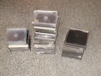 A selection of used CD/DVD Jewel Cases. Standard,Thin, x4, All good