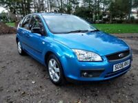 2006 Ford Focus SPORT T 1.6 16v.NEW FULL MOT.NEW OIL+FILTER.NO ADVISORY.BLUE.LOW MILAGE 81K.FSH.VGC.