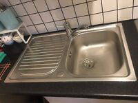 Kitchen sink - bowl and drainer (tap not included). £20ono