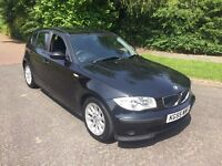 BMW 118d 55 reg in black with service history and mot Jan 2018. 07541350817