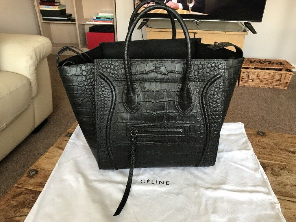 a856fea5784e Celine Phantom Luggage - Croc Leather Bag (Medium)