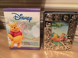 silver plated Winnie the pooh photo album,new