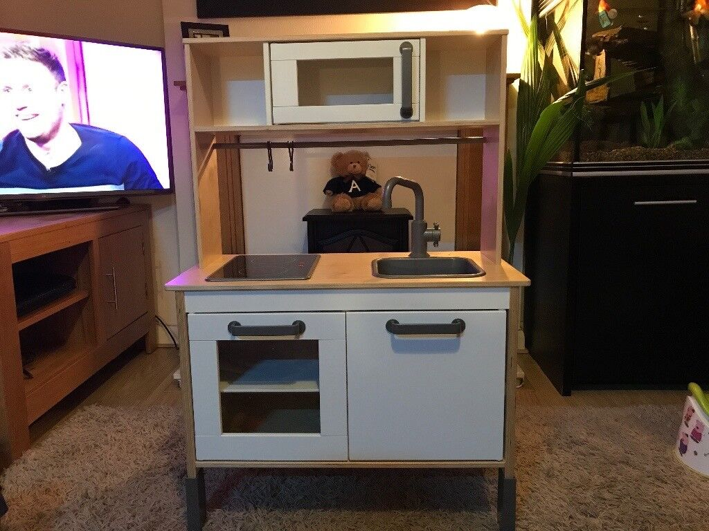 Toddler wooden play kitchen