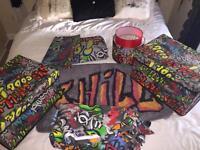 Bulk Graffiti bedroom set