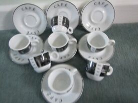Siaki Porcelain Coffee Cups And Saucers