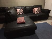 Large corner leather sofa - can deliver