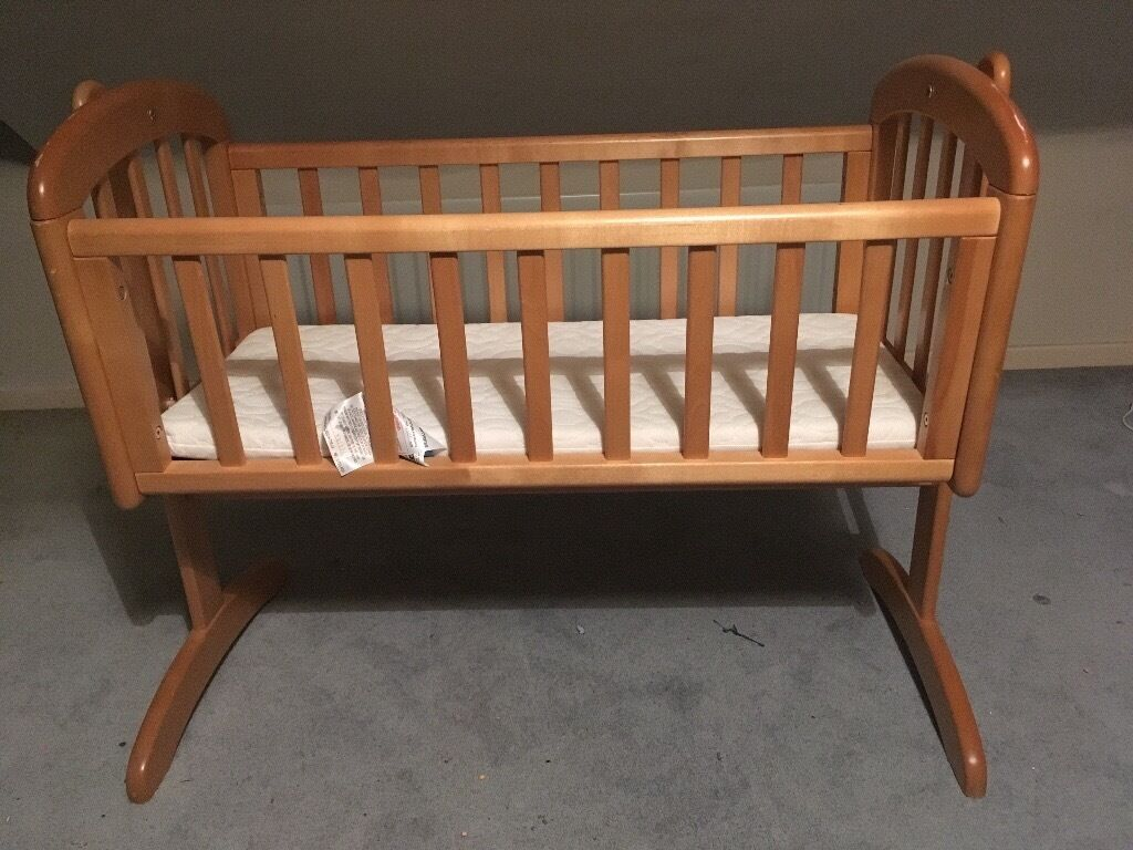 Baby cribs john lewis - Baby Swing Crib Wooden Infant Cradle John Lewis