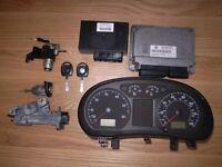 VW POLO 9N 1.2 LITRE 6V- 01- 05 AWY ECU KIT 03D906032C / 6Q0920900H 6Q0959433H