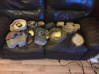 Reptile water bowls and hides