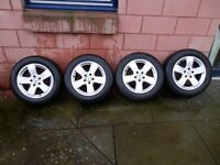 mercedes benz e class alloys and tyres 16 inch w211 model