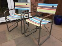 Lafuma Folding Camping / Outdoor Chairs. Pair For Sale and Like New.