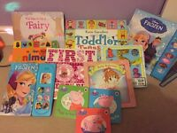 Selection of books and nursery rhyme CD's for young children