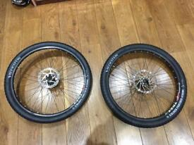 26 Inch mountain bike wheels with good tyres