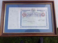Antique Victorian Share Certificate Receipt Bernard Hughes Belfast Dated 1897 Mc Fadden Portaferry