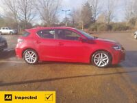 LEXUS CT200H 2015 FUJI RED. 1 OWNER, 19,750 MILES, OWNED BY LEXUS, FULL HISTORY, DRIVES LIKE NEW