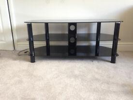 Serano black glass TV stand 42 inch