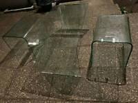 UNIQUE CURVED GLASS TABLE SET