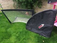 Pair of pop up goal nets