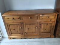 Solid pine sideboard-SOLD