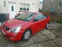 Honda civic 1.4 need away this weekend