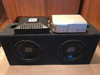 2 XS subwoofer with JBL 300W amplifier and Sony 10 CD changer