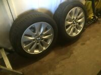 2 x bmw 1 series wheels with tyres