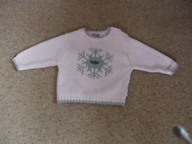 Girl's Christmas Jumper aged 12 months