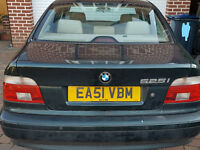For sale a BMW 5 series, auto, owned for past 13 years, leather