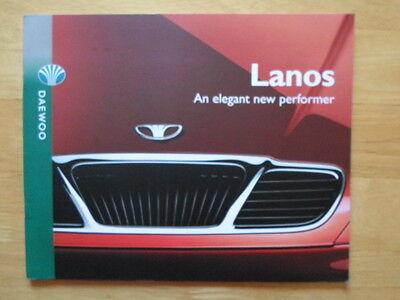 DAEWOO Lanos range orig 1997 UK Market prestige sales brochure