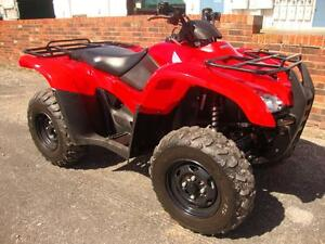 2012-Honda-Rancher-AT-EPS-420-EFI-IRS-4x4-Utility-ATV-Auto-Amazing-Condition