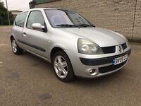 Renault Clio 1.2 16v Dynamique 3dr (Silver) (2 KEYS) 2005