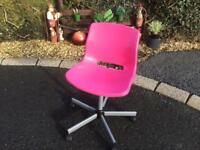 Pink Swivel Chair
