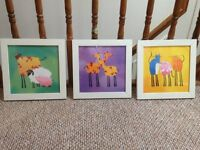 Kids Animal Framed Pictures