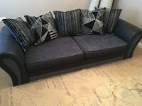 4 seater sofa and foot stool with storage for sale excellent condition