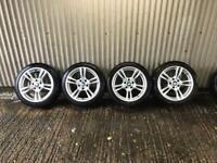 "Genuine 18"" BMW 3 Series M Sport F30 Staggered Alloy Wheels - 5x120 - 318d 320d etc"