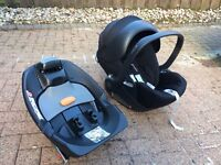 Mamas and Papas - Cybex Aton car seat with ISO fix base
