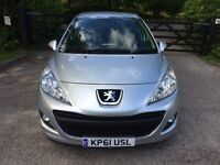 2012 peugeot 207 silver 1.4 petrol MOT 18/5/ 2018 HPI CLEAR 59000 MILES immaculate condition