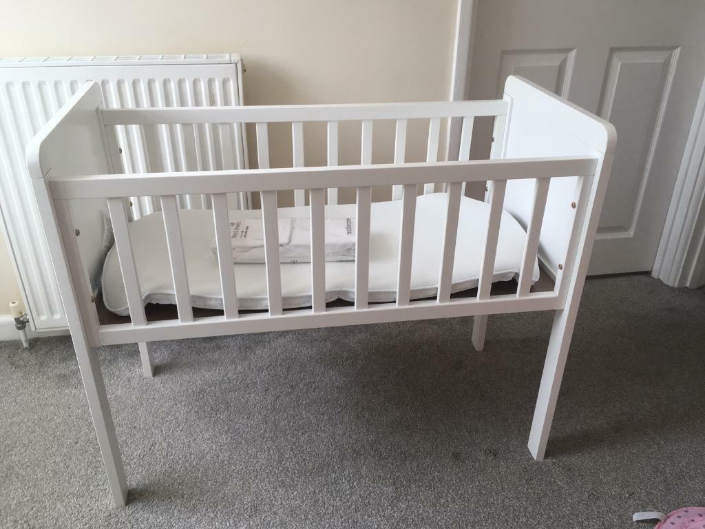 wholesale dealer f9ce9 78277 Mothercare baby crib and mattress with brand new crib sheets | in Torquay,  Devon | Gumtree